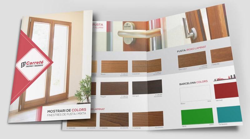 Mostrari de colorss de finestres de fusta i finestra mixta