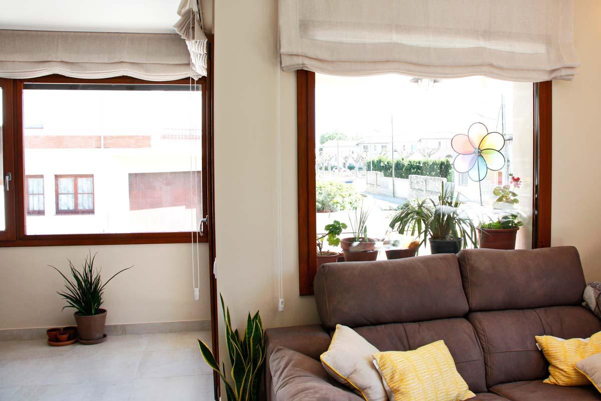 finestres de fusta de gran qualitat i eficàcia tèrmica amb alta transmitància tèrmica fabricades per Carreté Finestres- Santa Coloma de Queralt
