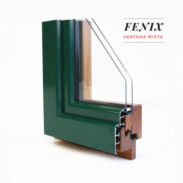 finestra de fusta interior i alumini exterior mixta Fènix - Productes de qualitat de