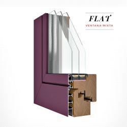 Carreté Finestres - finestra mixta de fusta i alumini Flat amb control acústic