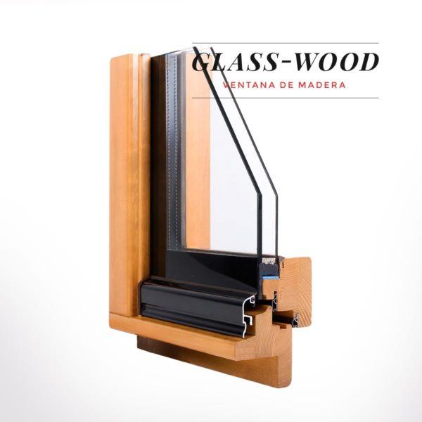 finestra de fusta Glass Wood Carreté Finestres estalvi economic