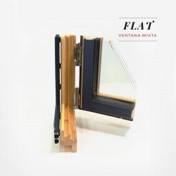 Carreté Finestres finestra mixta fusta alumini Flat