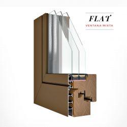 Carreté Finestres finestra mixta de fusta i alumini Flat - aïllament tèrmic ideal per a cases a Andorra i Pirineus