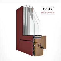 Carreté Finestres - finestra mixta de fusta i alumini de la sèrie Flat - màxima eficiència energètica