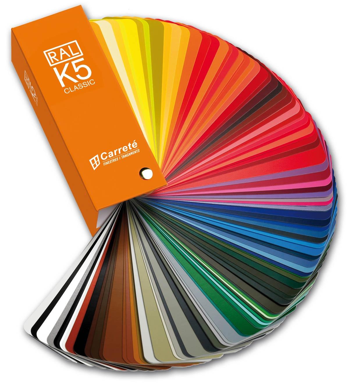 carta RAL de colors per a finestres de fusta i alumini de Carreté Finestres