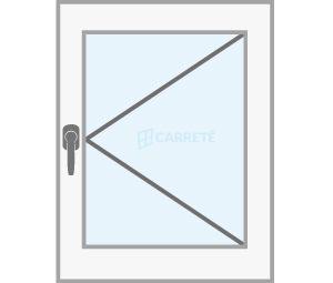 finestra practicable catàleg finestres de fusta y mixtes Carreté Finestres
